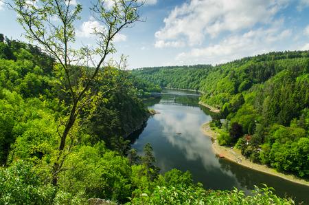 Photo of a Vranov Dam on the river Thaya,  South Moravia, Czech Republic