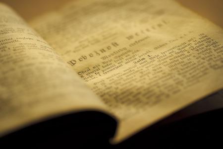 Still life with old prayer book
