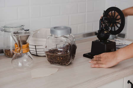Coffee beans and coffee grinders