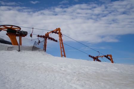 Cable  car for skiers Stock Photo - 2148268