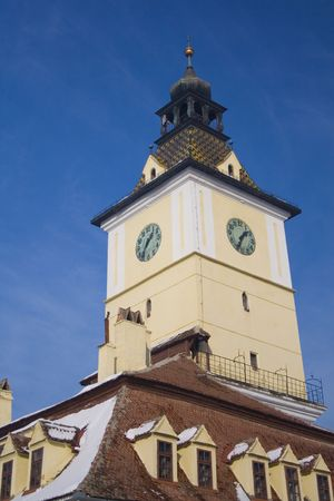 brasov: The council tower in Brasov downtown.