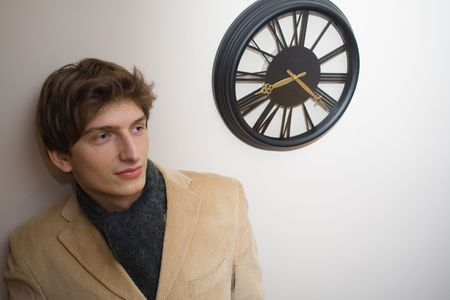 melancholic: Young man feeling melancholic by the passing of time