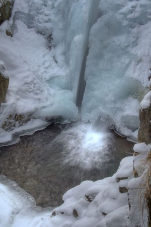 Frozen waterfall in the mountains Stock Photo - 2405998