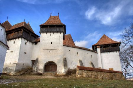 Fortified church in Transylvania Romania on the UNESCO heritage list.