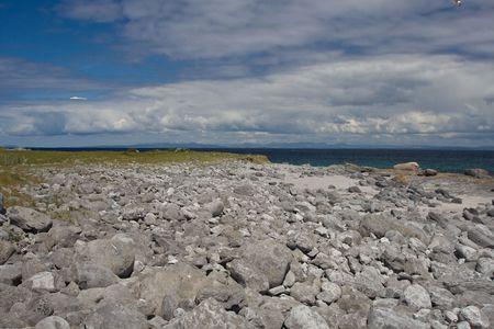 inisheer: Beach at Inisheer Island in Ireland.