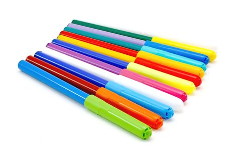 Colorful markers isolated on white. Stock Photo - 3781395