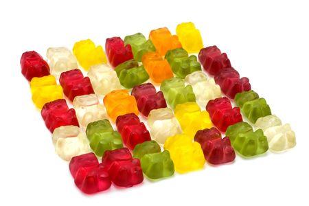 gummie: Gummi bears isolated on white. Stock Photo