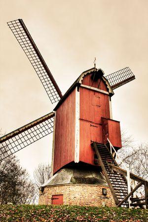 Windmills at Bruges in Belgium. Stock Photo - 3914799