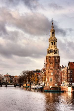 Munttoren tower in Amsterdam, Holland.