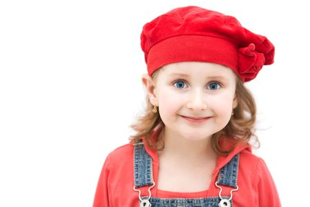 Little girl with a cute red hat Stock Photo - 4494226