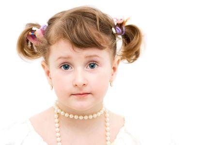 Little girl dressed elegant. Stock Photo - 4494139