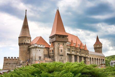 Huniazi Castle in Romania. Stock Photo