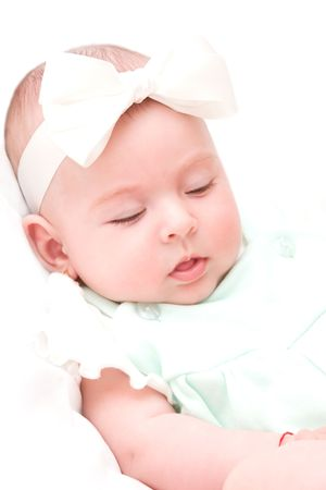 Adorable baby girl sleeping peacefuly Stock Photo - 4888408