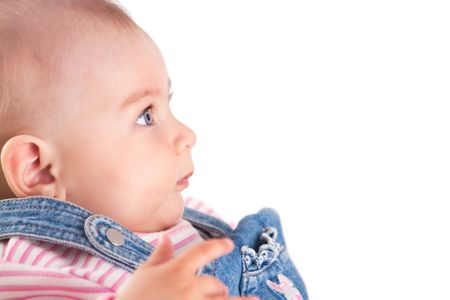 Cute baby girl dressed in jeans Stock Photo - 5062077