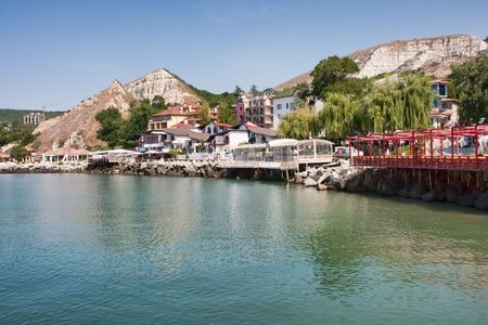 balchik: Balchik resort shore in Bulgaria