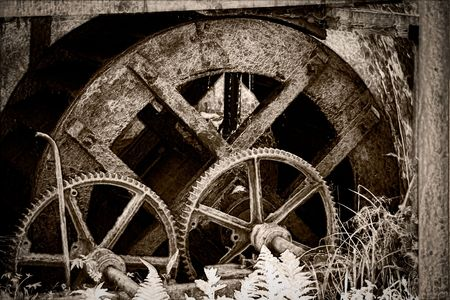 watermill: Watermill wheels in countryside Romania. Stock Photo