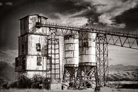 Old rock crushing machines in a abandoned quarry Stock Photo - 5357219
