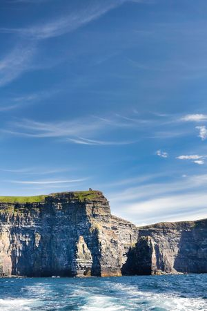 moher: Landscape of the Cliffs of Moher in Ireland Stock Photo