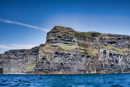 Landscape of the Cliffs of Moher in Ireland photo