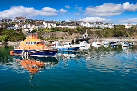 Boats in the Ballycotton Harbour in Ireland photo