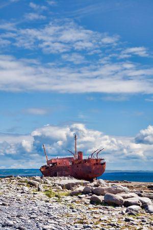 The Plassey Wreck on Inisheer Island in Ireland