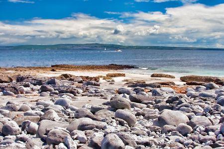 Coast at the Inisheer Island in Ireland Stock Photo