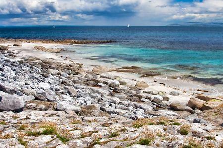 inisheer: Coast at the Inisheer Island in Ireland Stock Photo