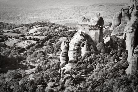 Landscape at Meteora Monasteries in Trikala region, Greece. photo