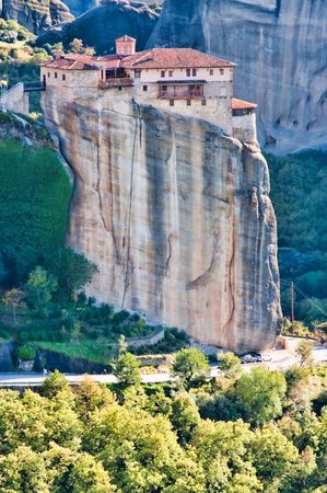 monasteries: Landscape at Meteora Monasteries in Trikala region, Greece.