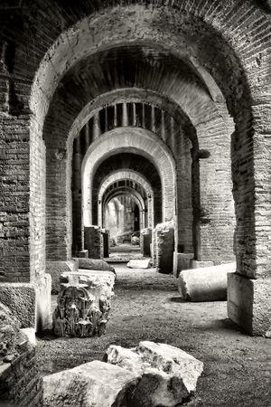 Santa Maria Capua Vetere Amphitheater in Capua city, Italy in december 2009. photo