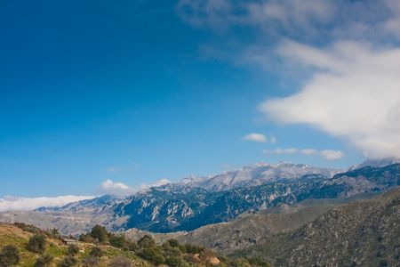 greece granite: Landscape from the Lefka Ori Mountains in Crete, Greece