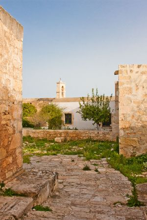 theologian: Monastery of St. John Theologian at Ancient Aptera in Crete, Greece