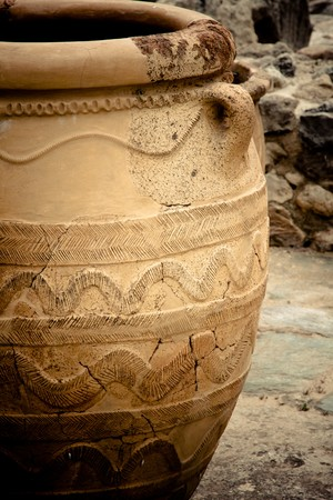��archeological site�: Pottery at Knossos Archeological Site in Crete, Greece