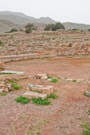 archeological site: Ruins at Zakros Minoan Archeological Site in Crete, Greece