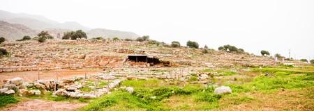 minoan: Ruins at Zakros Minoan Archeological Site in Crete, Greece