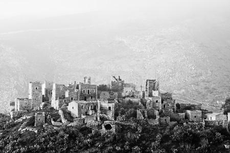 mani: Cidatel of Vathia in southern Peloponnese, Greece, February 2010