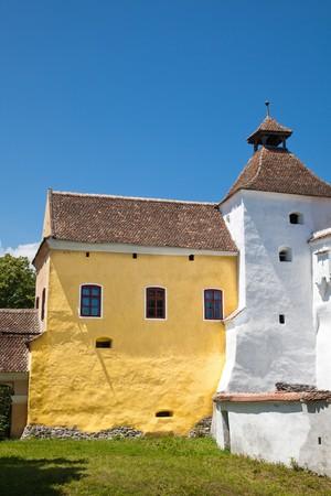fortified: Harman Fortified Church in Brasov County, Romania.