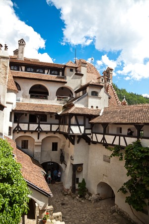 June 2010 - Tourists at Bran Castle in Brasov County, Romania