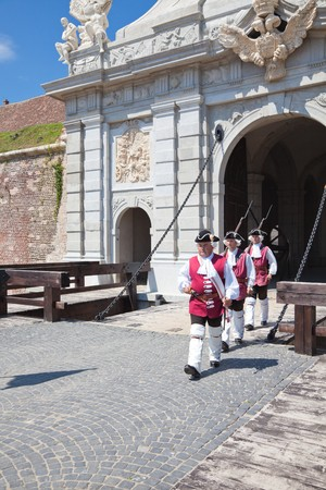 July 2010 - The guard change at noon at Alba Iulia Fortress in Romania