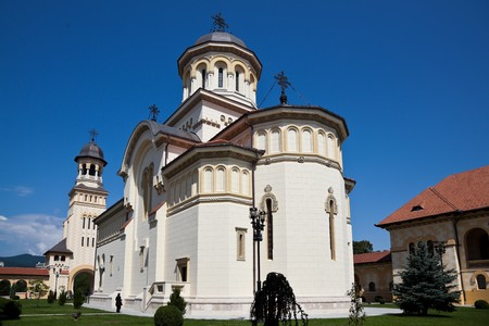 alba: The Orthodox Cathedral in Alba Iulia city in Romania.