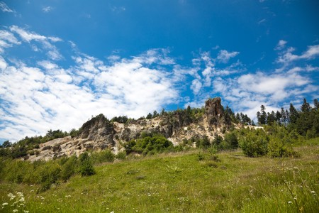 natural landmark: Piscul Corbului, a natural landmark in Apuseni Mountains, Romania.