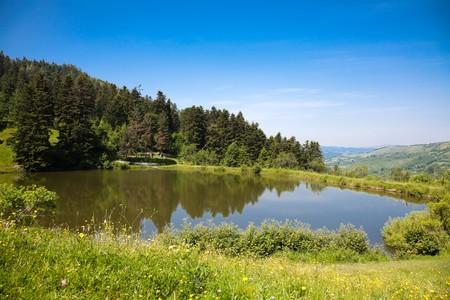 Summer landscape at Brazi Lake in Rosia Montana, Romania. Stock Photo - 7542364