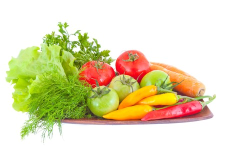 Assortment of vegetables isolated on white background. Stock Photo - 8113846
