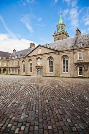 kilmainham: View of the interior courtyard at Irish Museum of Modern Art, Dublin, Ireland. The building was the former Royal Hospital Kilmainham.