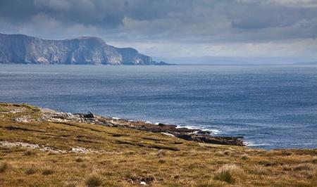 achill: Panorama of the coast at Achill Island, county Mayo, Ireland.