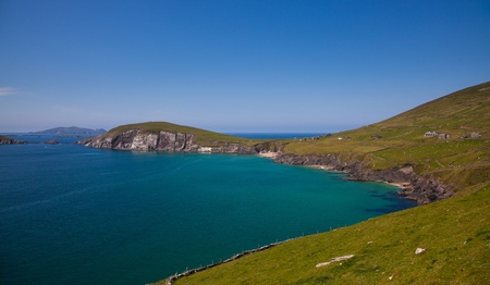 dunquin: Dunmore head and beach in Coumeenoole Bay, Dingle Peninsula, Ireland.