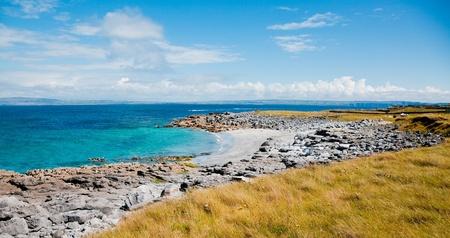 Small beach on Inisheer Island in summer, Ireland. Stock Photo