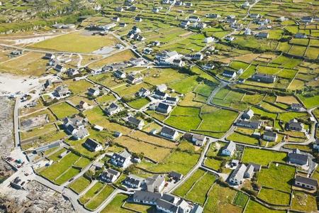 inisheer: Aerial landscape of Inisheer Island, part of Aran Islands, Ireland. Stock Photo
