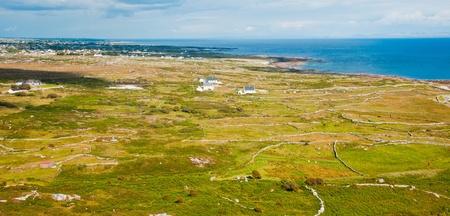 Aerial landscape of Conemara coast, Ireland.
