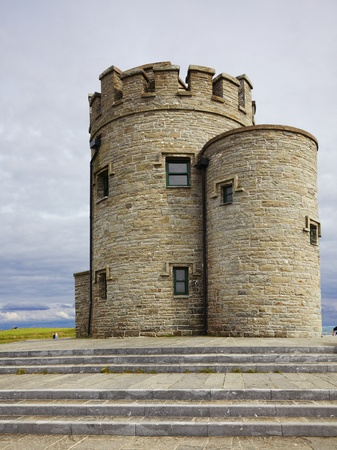 Castle at Cliffs of Moher in Ireland during summer. photo